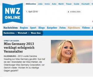 Miss Germany NWZ Online