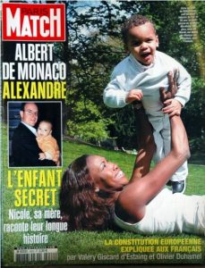 Paris Match Cover Fürst Albers