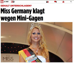 Miss Germany 2013 Caroline Noeding BILD Artikel