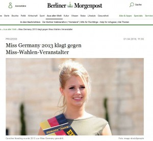 Miss Germany Berliner Morgenpost