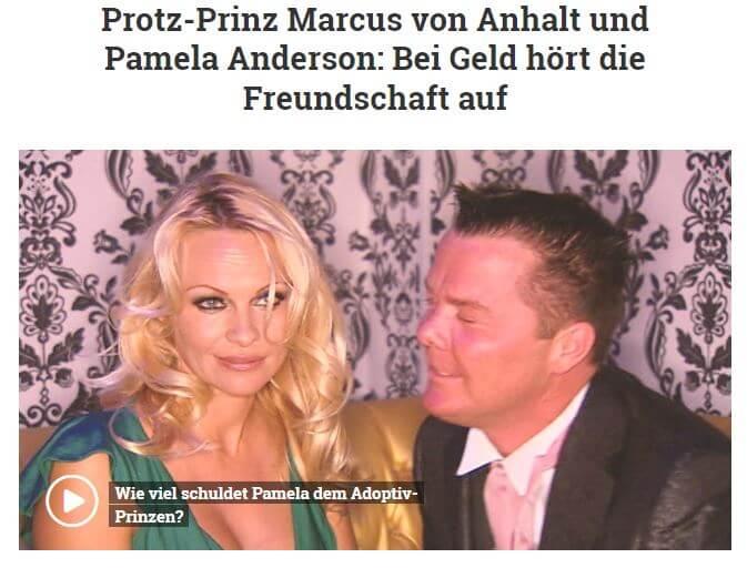 Marcus Prinz von Anahlt vs Pamela Anderson